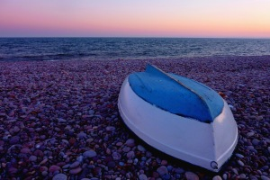 Boat on Budleigh beach, March 2011